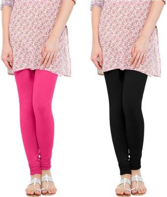 Oh Fish Women's Pink, Black Leggings