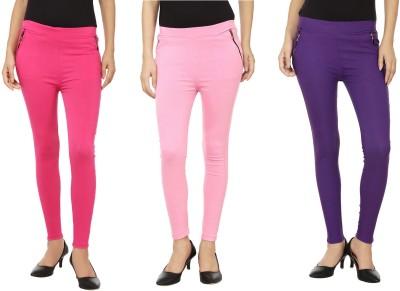 Emblazon Women's Pink, Purple, Pink Jeggings