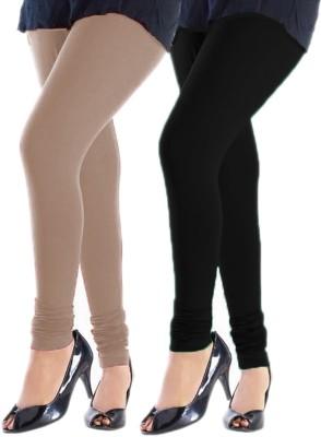 Trusha Dresses Women's Beige, Black Leggings