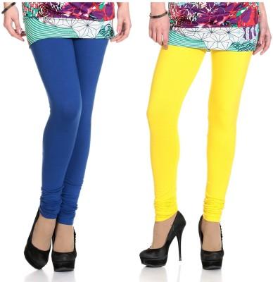 Ahhaaaa Women's Blue, Yellow Leggings