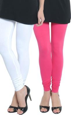 Tulsattva Women's Pink, White Leggings