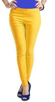 Ace Women's Yellow Jeggings