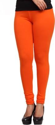 Lequeens Women's Orange Leggings