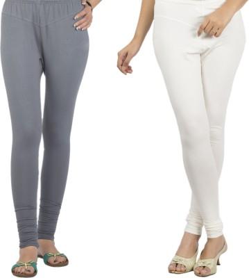 Jublee Women's Grey, White Leggings