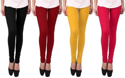 Escocer Women's Black, Maroon, Pink, Beige Leggings