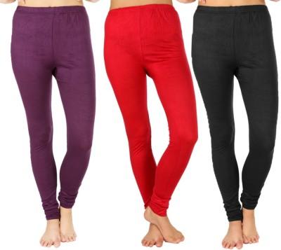 SLS Women's Purple, Maroon, Black Leggings