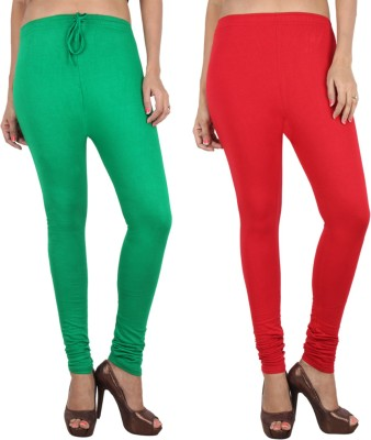 Danbro Women's Red, Green Leggings