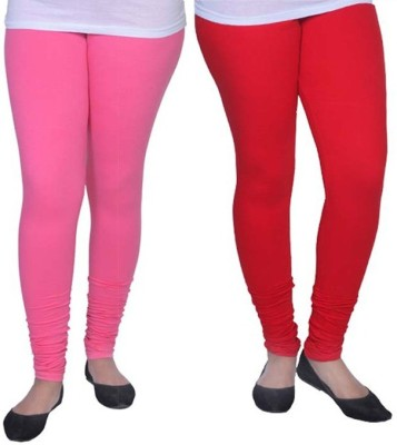 Ambitious Women's Red, Pink Leggings