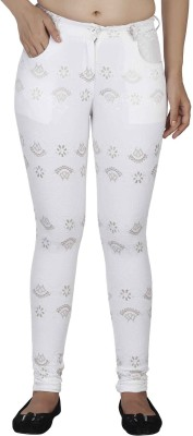 SOIE Women's White Jeggings at flipkart