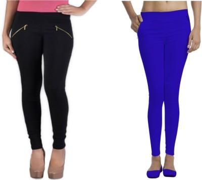Universal Mart Women's Black, Blue Jeggings