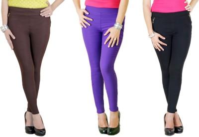 Zrestha Women's Black, Brown, Purple Leggings