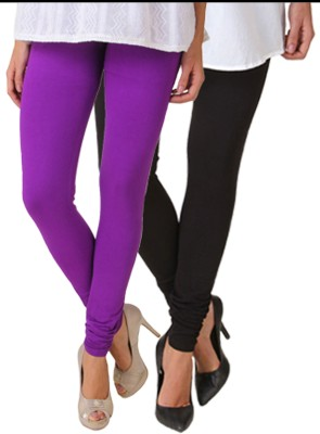 Fasense Women's Black, Purple Leggings