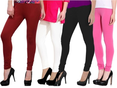 NGT Women's Maroon, Black, White, Pink Leggings