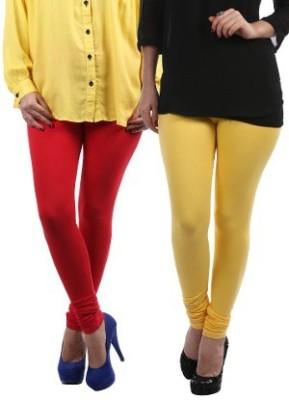 Lavennder Women's Red, Yellow Leggings