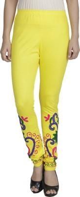 Franclo Women's Yellow, Blue Leggings