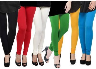 Fashion Zilla Women's Black, Red, White, Light Green, Yellow, Light Blue Leggings