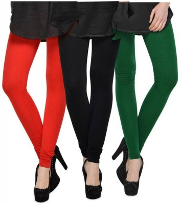 Fashion Zilla Women's Orange, Black, Dark Green Leggings