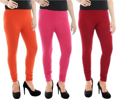 Paulzi Women's Orange, Pink, Maroon Leggings