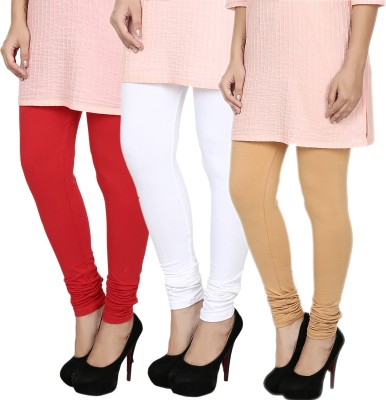 Fizzaro Women's Red, White, Beige Leggings