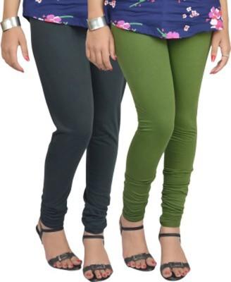 shivam Garments Women's Green, Grey Leggings