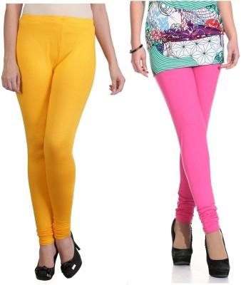 Ahhaaaa Women's Gold, Pink Leggings