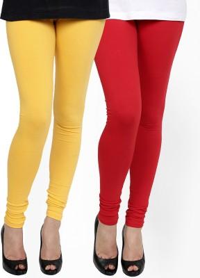 Zavlin Women's Yellow, Red Leggings