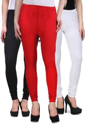 Desi Duos Women's Red, Black, White Leggings