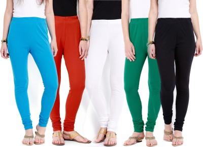 Ten on Ten Women's Blue, Orange, White, Green, Black Leggings