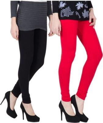 VERMELLO Women's Black, Red Leggings