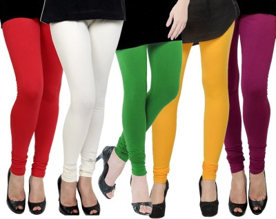 Kjaggs Women's Red, White, Green, Yellow, Pink Leggings
