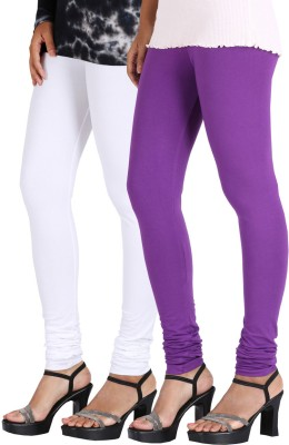 Greenwich Women,s White, Purple Leggings