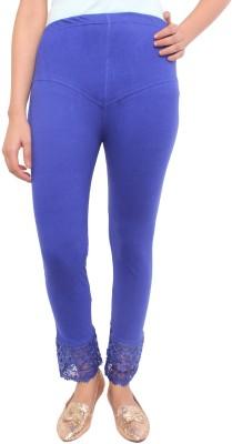 White Feather Women's Blue Leggings