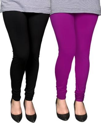 PAMO Women,s Black, Purple Leggings