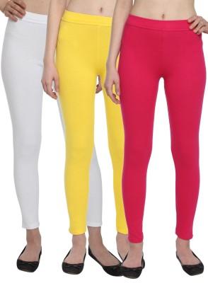 Aloft Women's Yellow, White, Pink Leggings