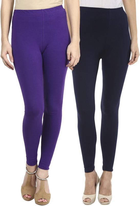 Sakhi Sang Women's Purple, Blue Leggings(Pack of 2)