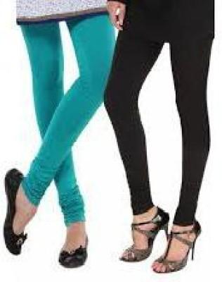 StyleJunction Women,s Light Blue, Black Leggings