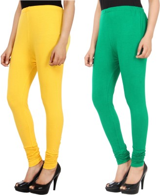 Xposé Women's Yellow, Green Leggings