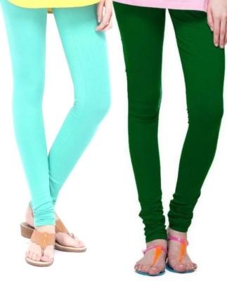 Zadine Women's Light Blue, Dark Green Leggings