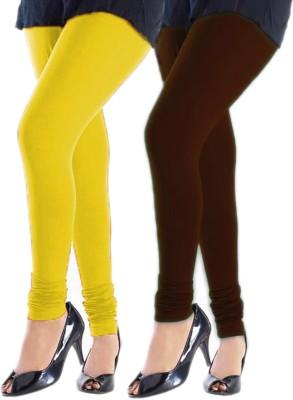 Trusha Dresses Women's Yellow, Brown Leggings