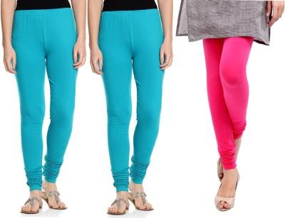 Sampoorna Collection Women's Blue, Blue, Pink Leggings
