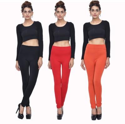 Both11 Women's Black, Red, Orange Leggings