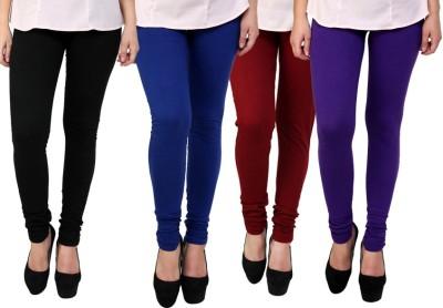 Dharamanjali Women's Black, Blue, Maroon, Purple Leggings