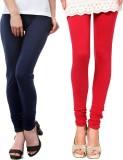 Famaya Women's Dark Blue, Red Leggings (...