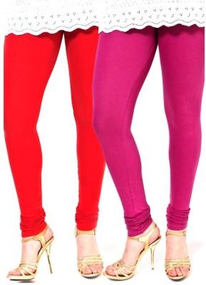 VERMELLO Women's Pink, Red Leggings