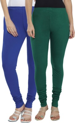 Fexy Women's Dark Blue, Green Leggings