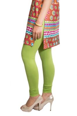 Red Saffron Women's Light Green Leggings