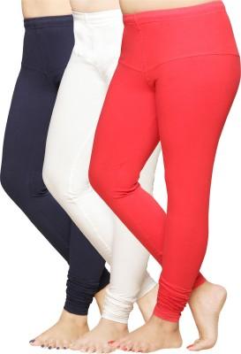 Pomelo Women's Red, Beige, Blue Leggings