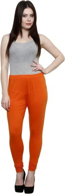 Pistaa Women's Orange Leggings