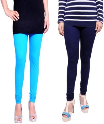 Tanunni Women's Light Blue, Dark Blue Leggings