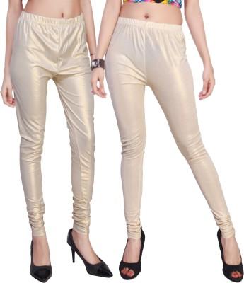 Comix Women's Beige, Gold, White, Gold Leggings